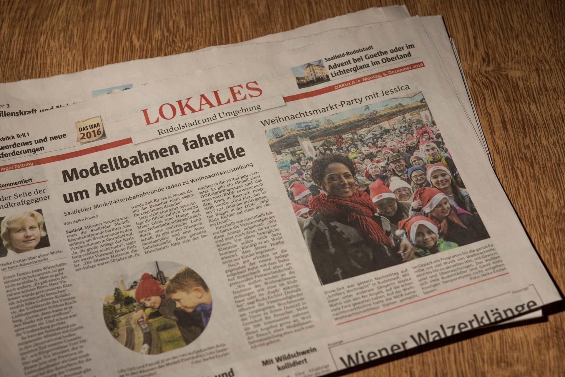 Weihnachtsmarkt MDR Jump in Thüringen, OTZ berichtet
